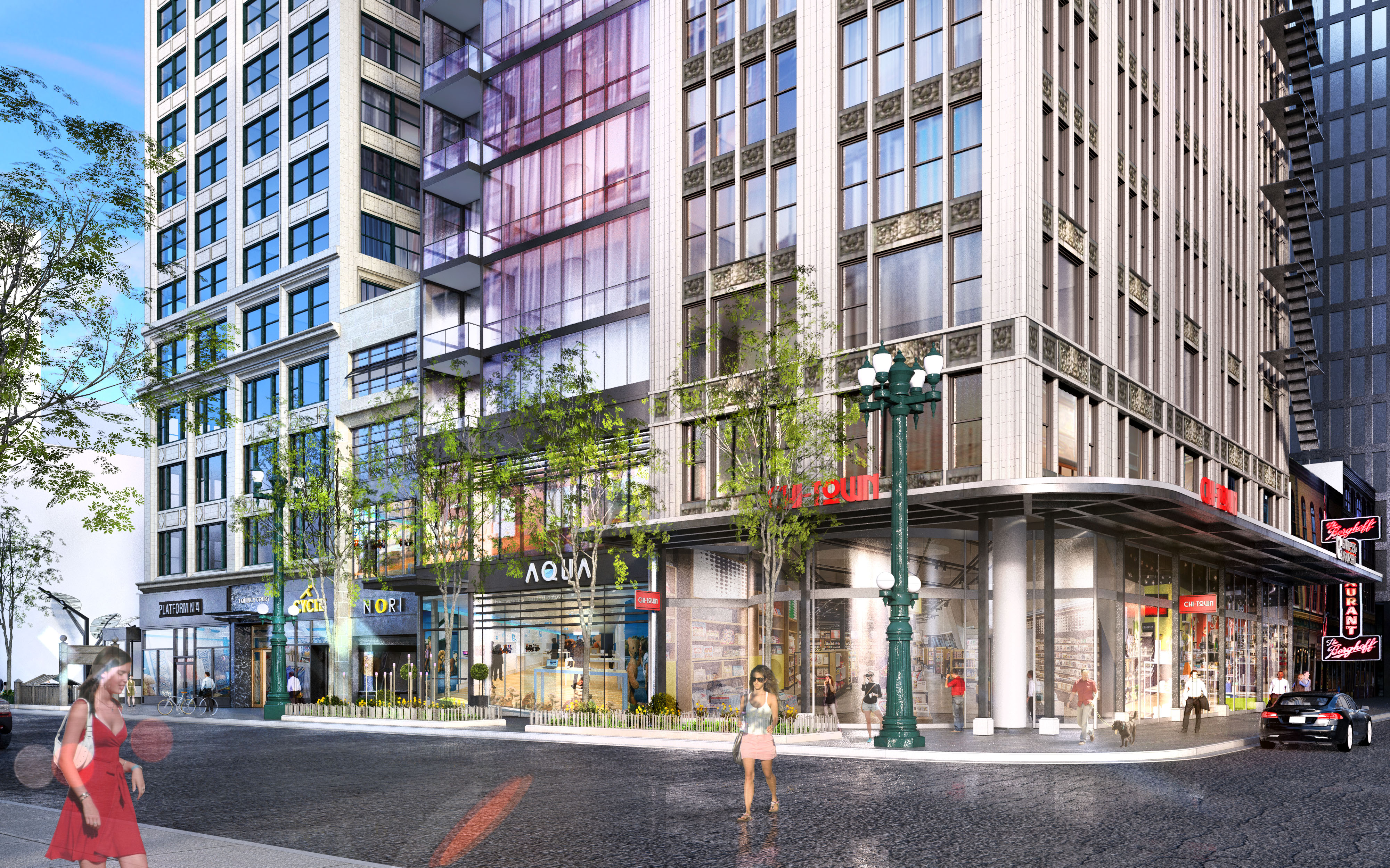 South State redevelopment rendering (Courtesy of CA Ventures/Antunovich)