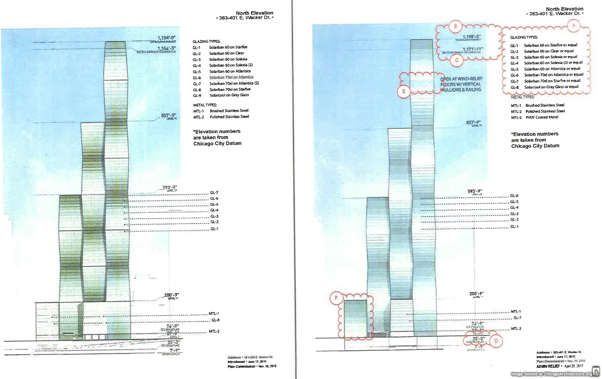 Diagram of the Vista Tower