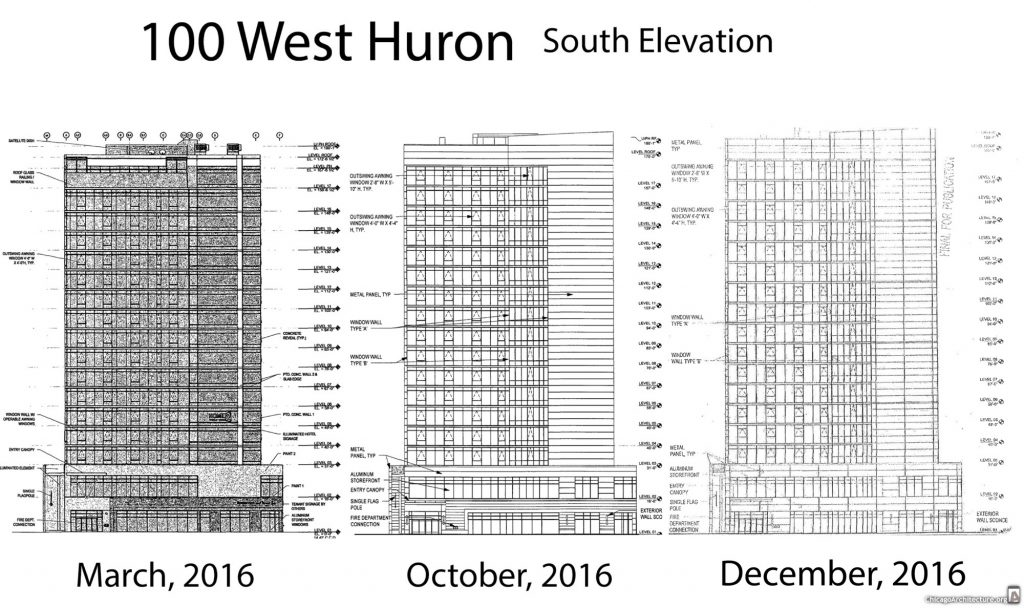 The evolution of 100 West Huron