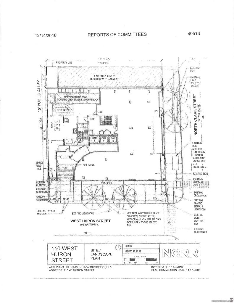Diagram of 100 West Huron