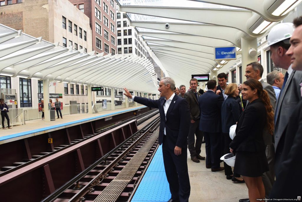 CTA Washington/Wabash station (via Office of the Mayor of Chicago)