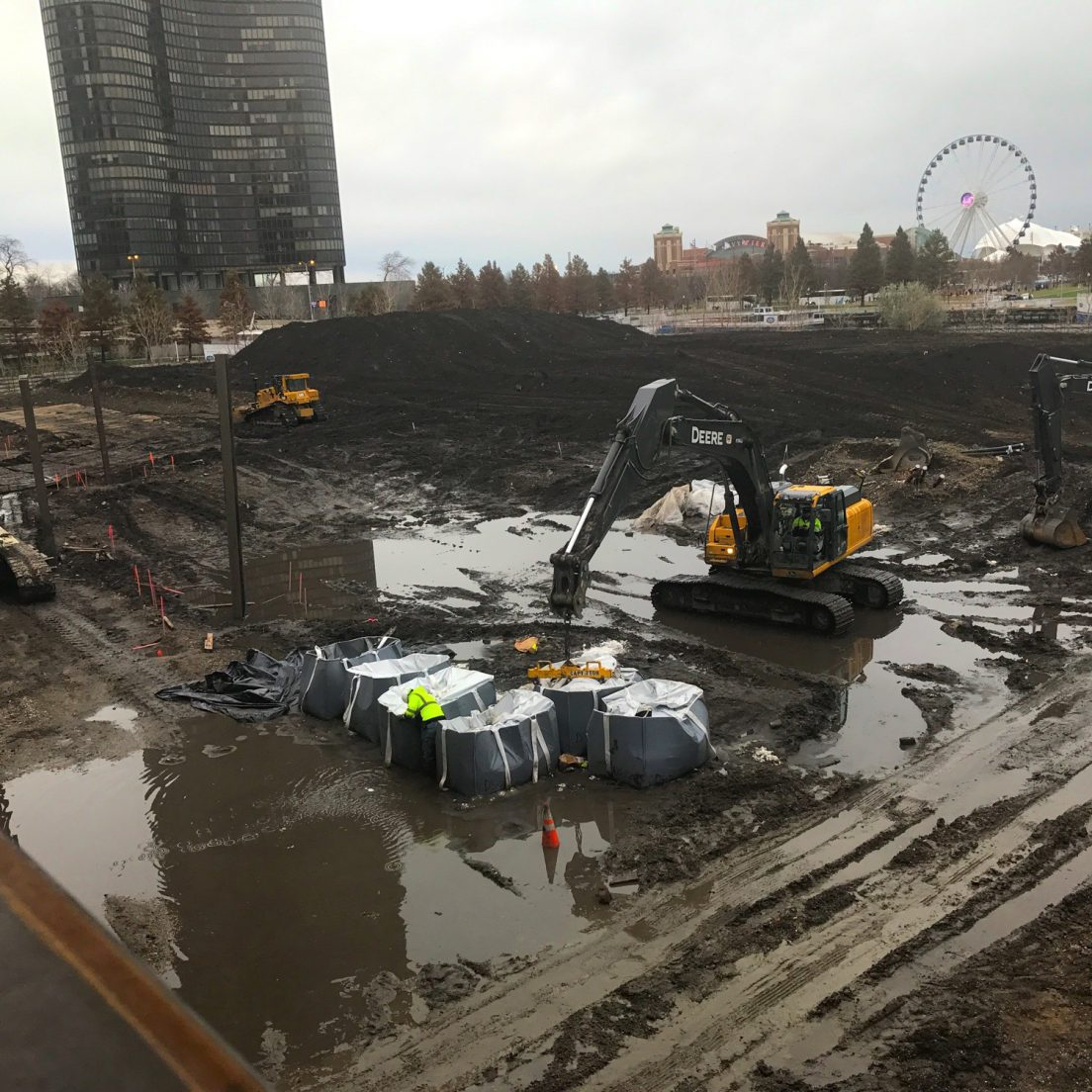 Radioactive remediation at the future DuSable Park (Courtesy of Streeterville Spy Joel)