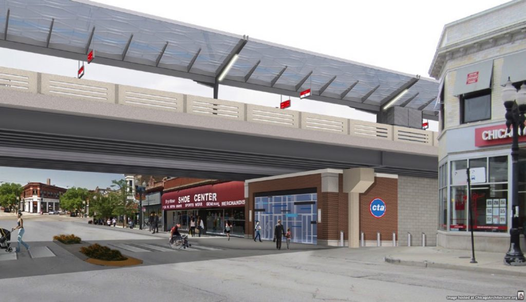 Rendering of new Bryn Mawr station (via CTA)