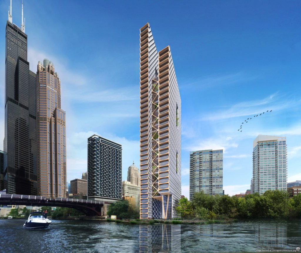 Rendering of the proposed River Beach Tower