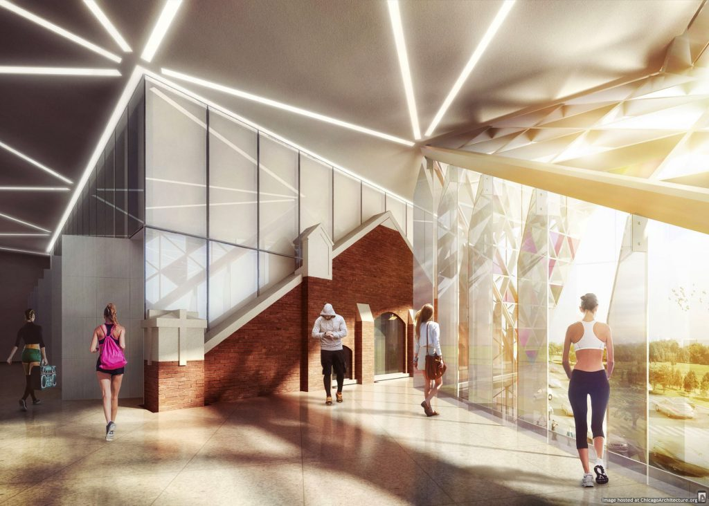 Rendering of the new Giordano Dance Chicago building (via bKL Architecture)