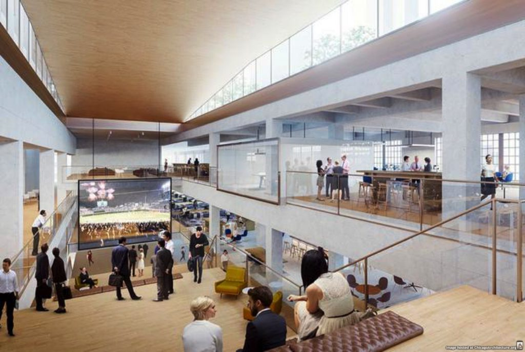 Rendering of the Old Post Office renovation