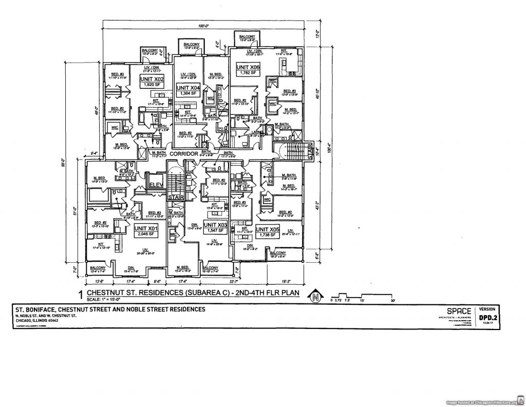 Diagram of the Saint Boniface Church Residences