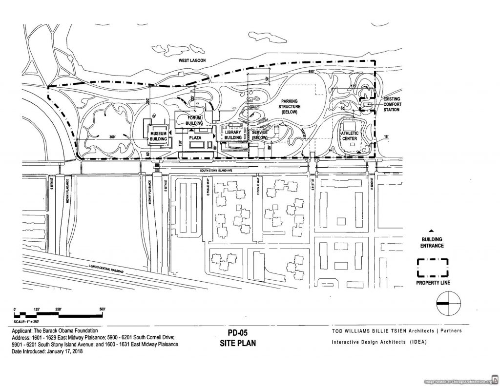 Diagram of the Obama Presidential Center