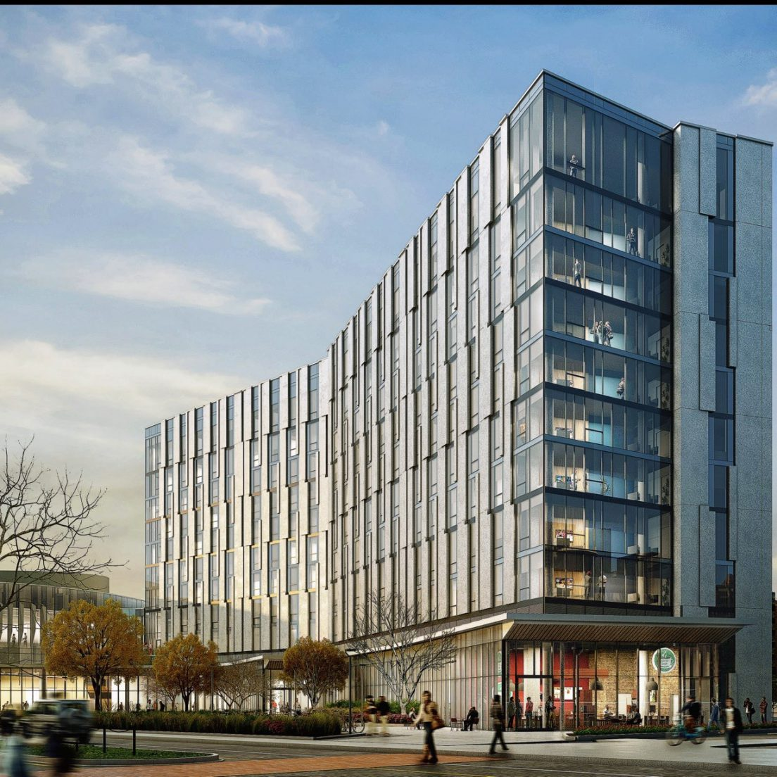Rendering of the UIC Academic and Residential Complex (Courtesy of SCB)
