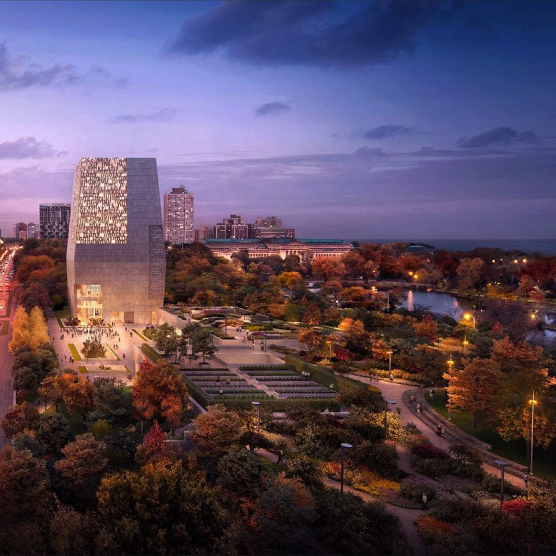 Rendering of the Obama Presidential Center (Courtesy of the Obama Foundation)