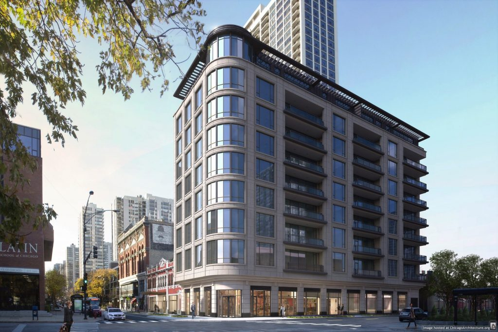 Rendering of 1550 North Clark (Courtesy of @properties)