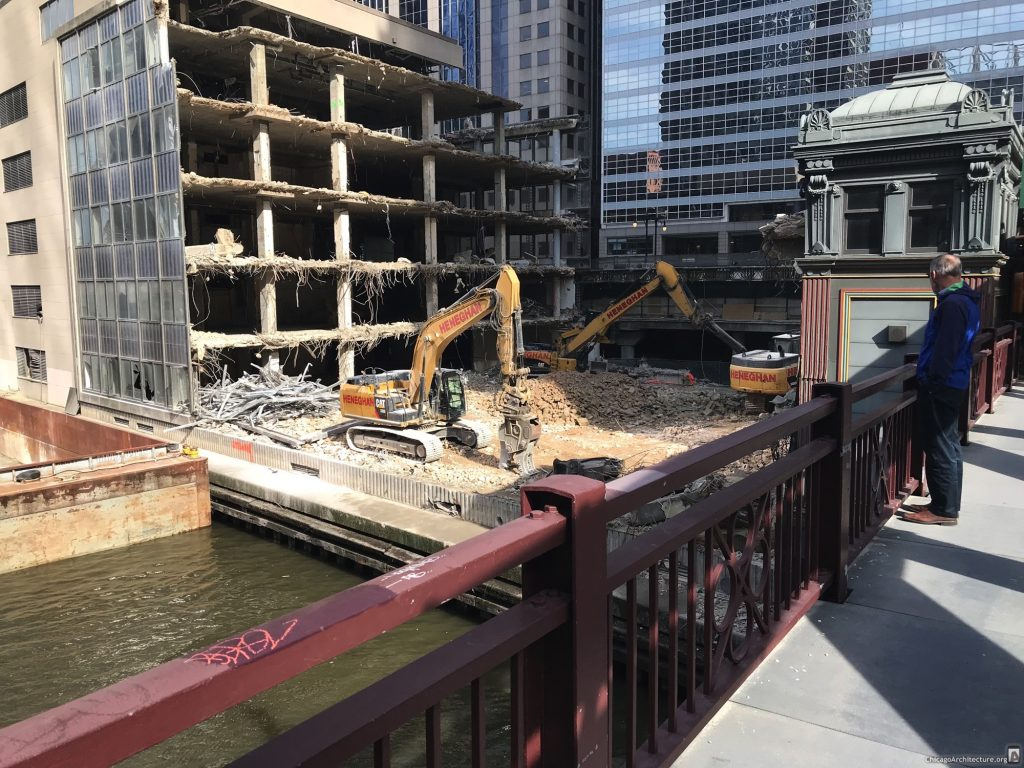 110 North Wacker demolition (Courtesy of Loop Spy Joel)