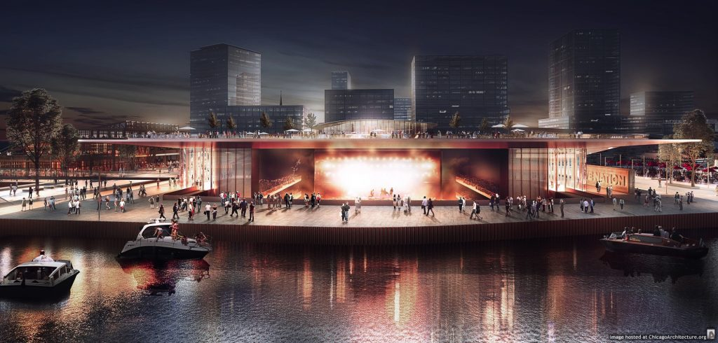 Rendering of a potential Live Nation venue for Lincoln Yards (Courtesy of Sterling Bay)