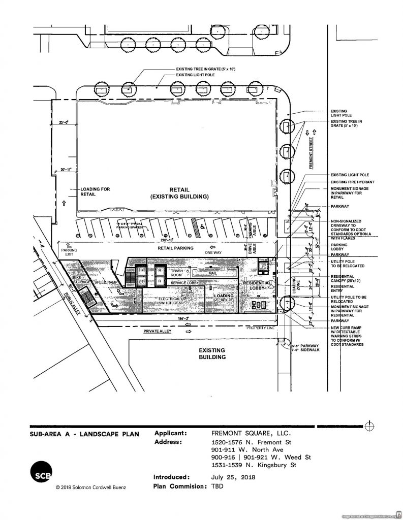 Diagram of 901 West Weed