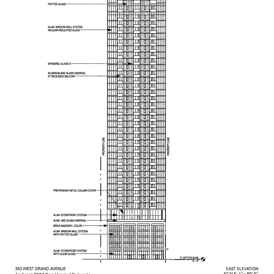 September 2018 diagram of 353 West Grand