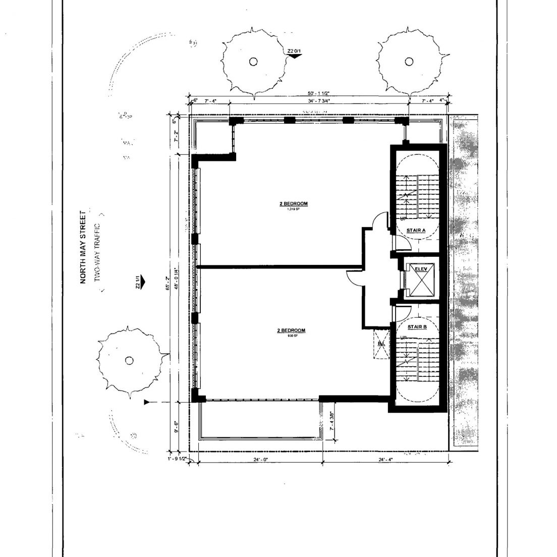 Diagram of 1123 West Randolph