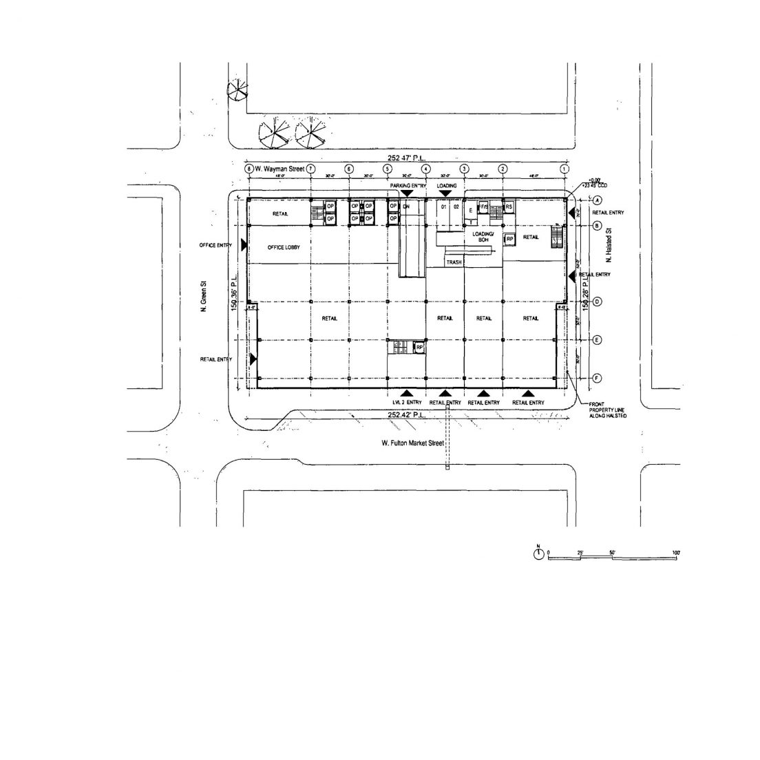 Diagram of 800 West Fulton Market