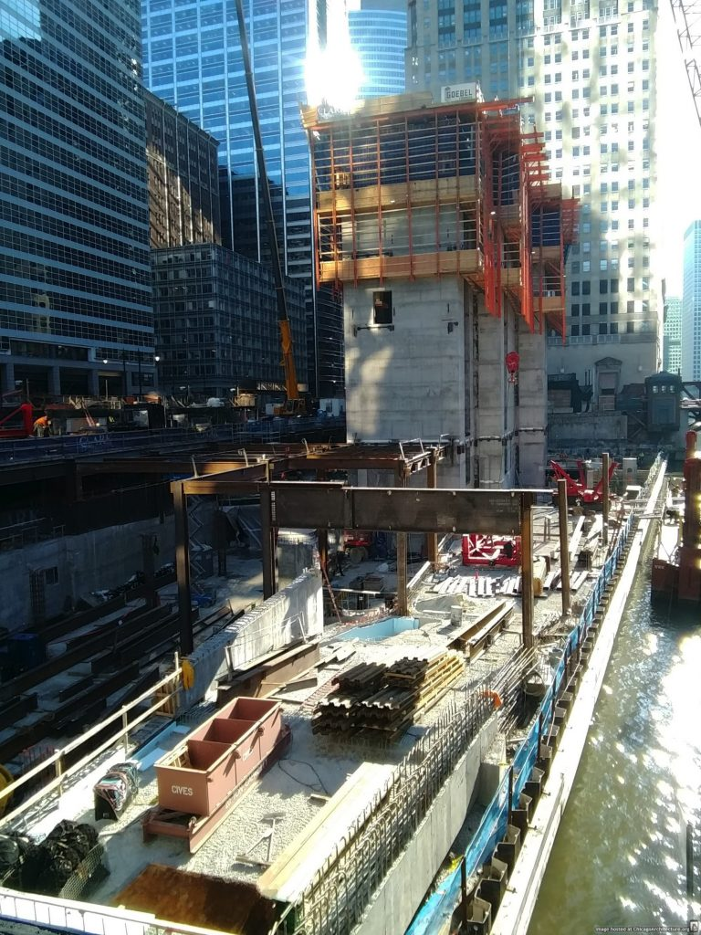 110 North Wacker under construction (Courtesy of Loop Spy Chris)