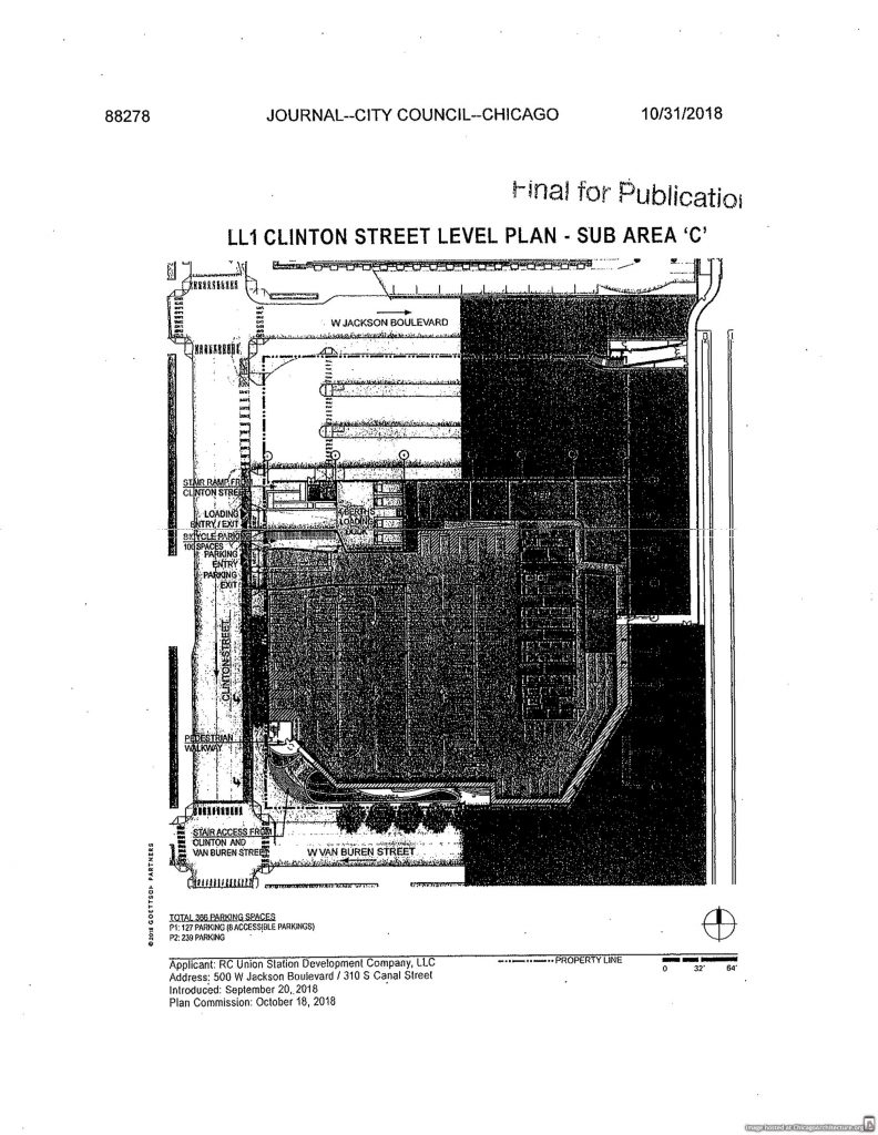 Diagram of the Chicago Union Station renovation