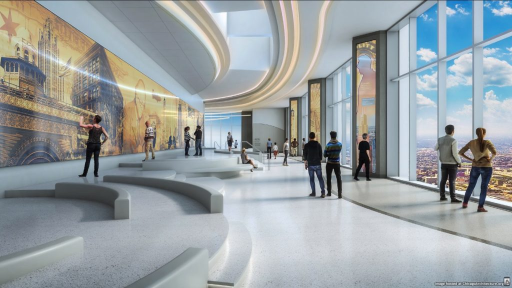 Aon Center Observatory rendering
