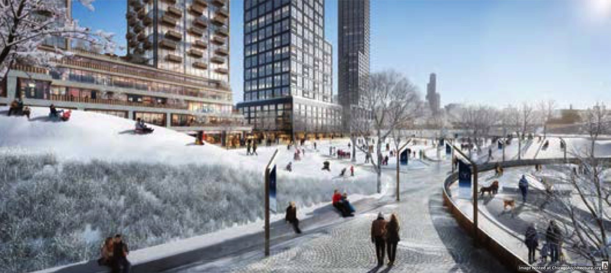 Rendering of Lincoln Yards (Via Sterling Bay)