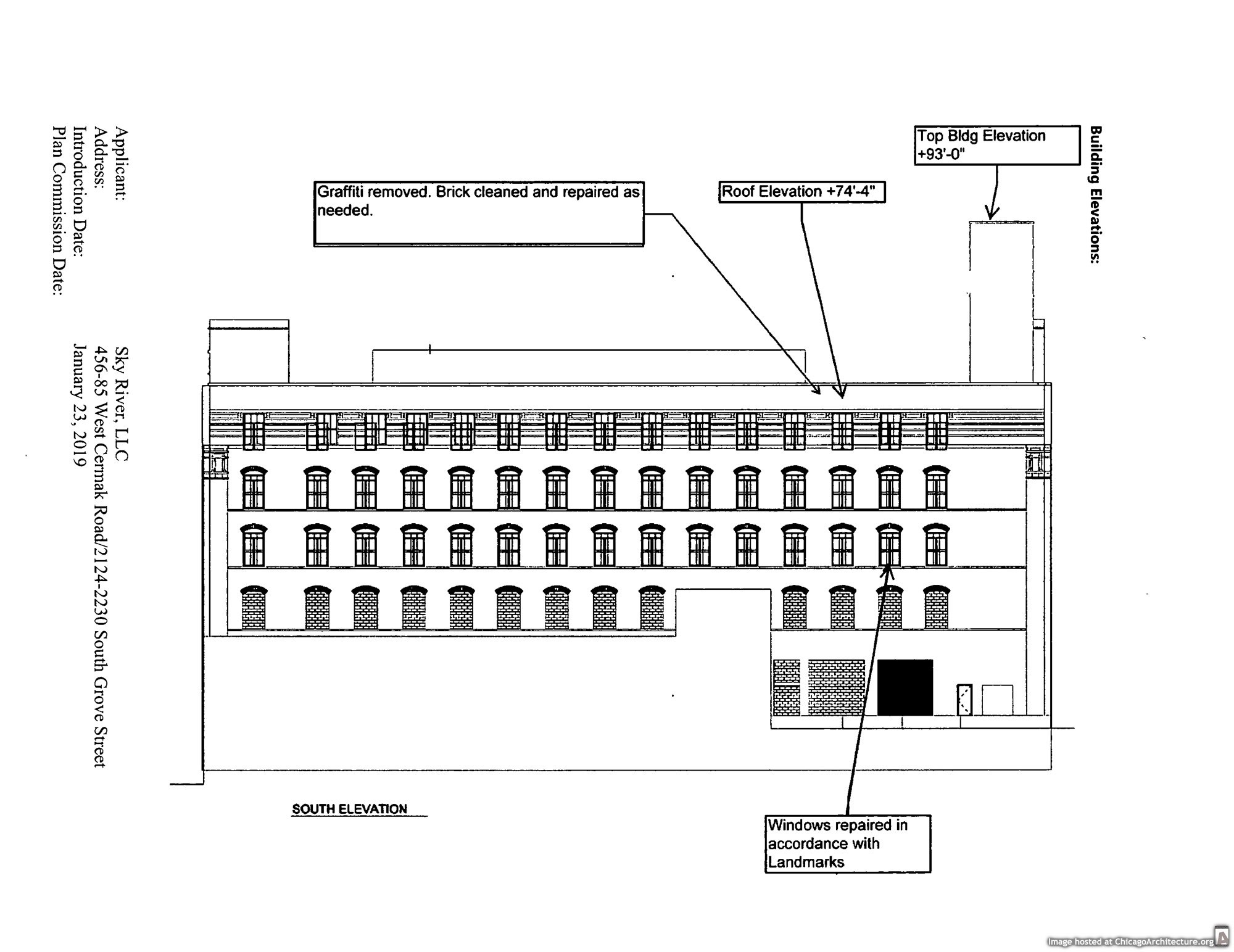 W.M. Hoyt Warehouse redevelopment diagram