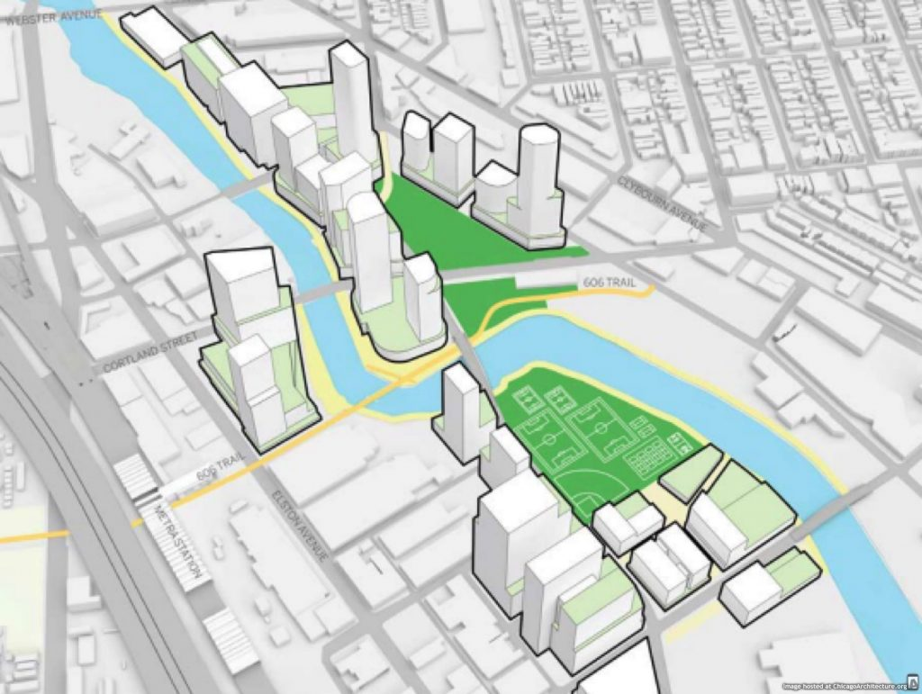 Diagram of the January 2019 Lincoln Yards plan