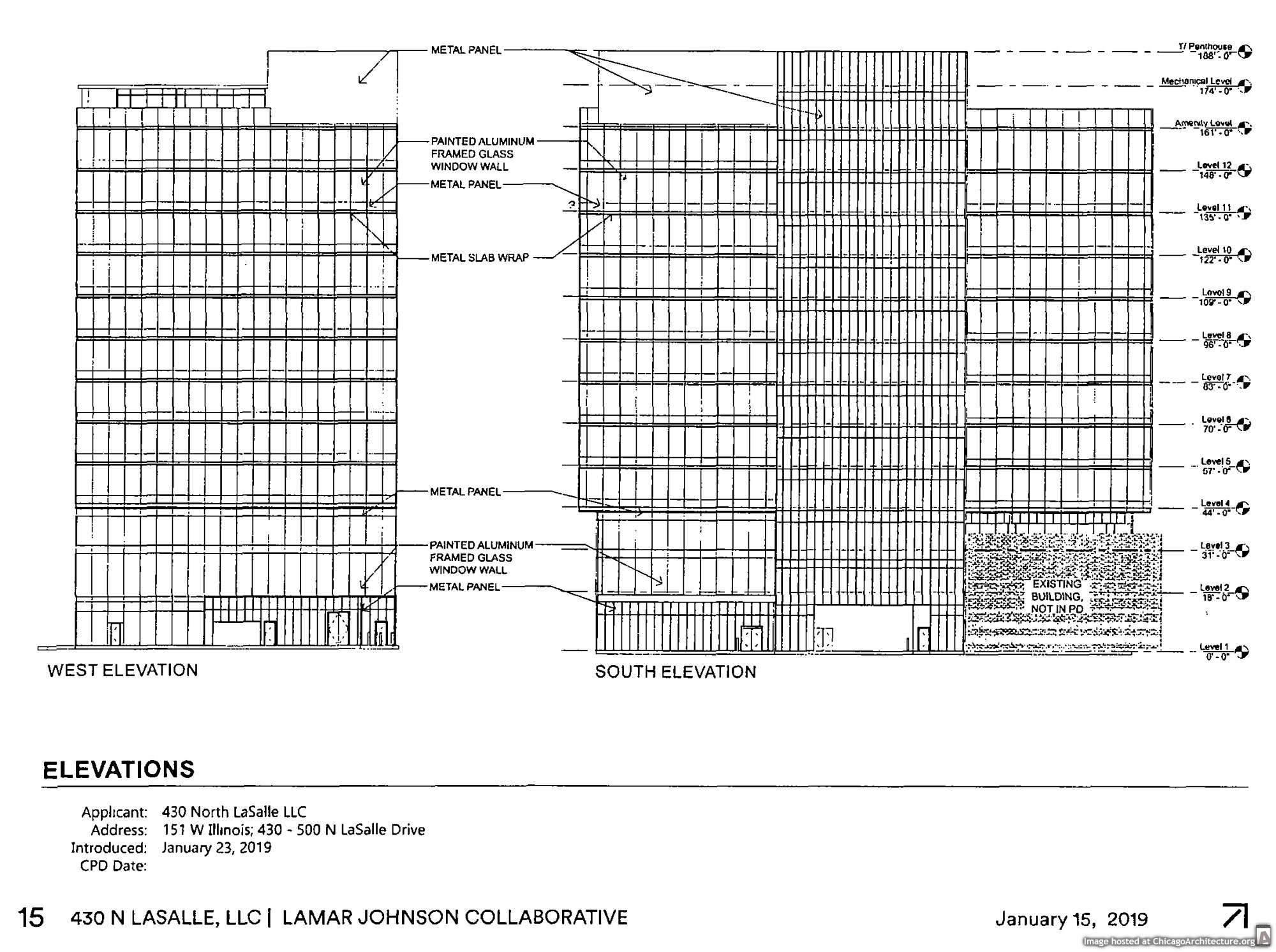 Diagram of 450 North LaSalle