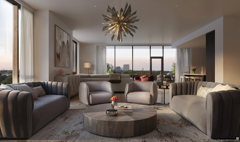 Rendering of 1550 on the Park (Courtesy of @properties)