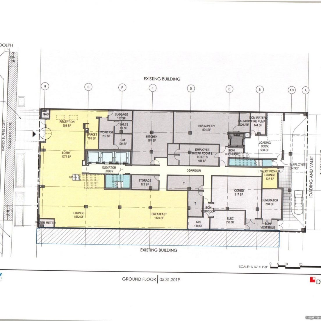May 2019 diagram of 180 West Randolph
