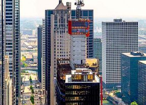 110 North Wacker Rises, Bringing Scads and Oodles Along the River