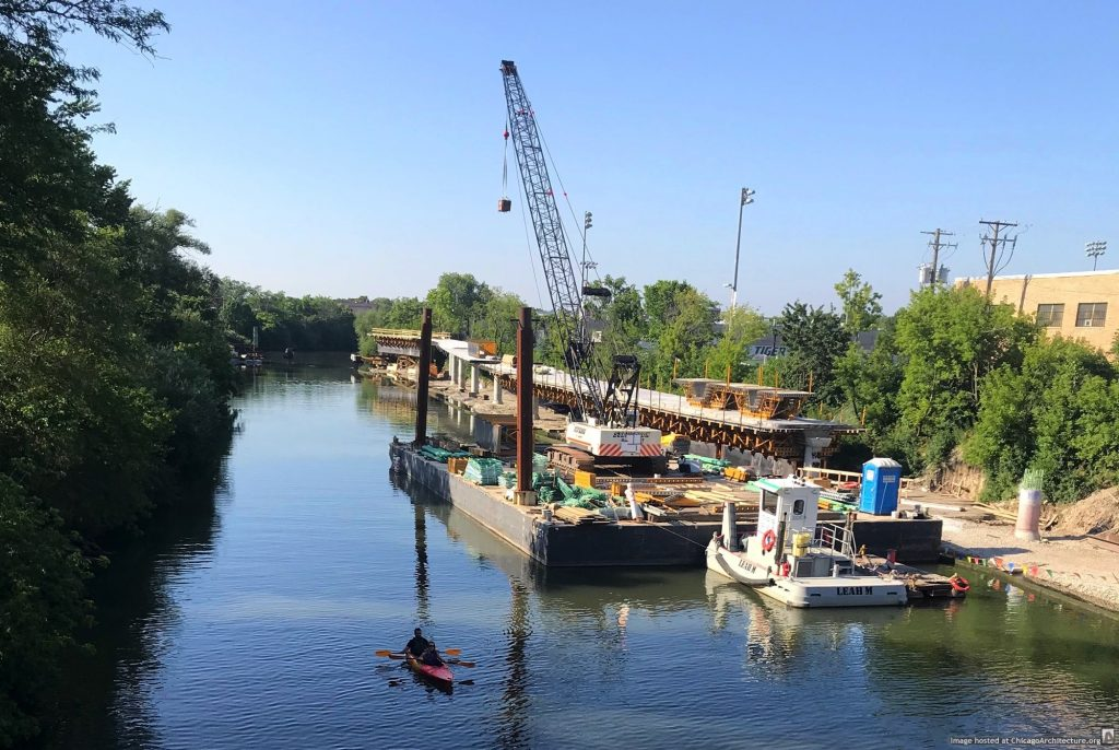 Construction of the 312 RiverRun at Addison (July 2019, courtesy of Avondale Spy Joel)