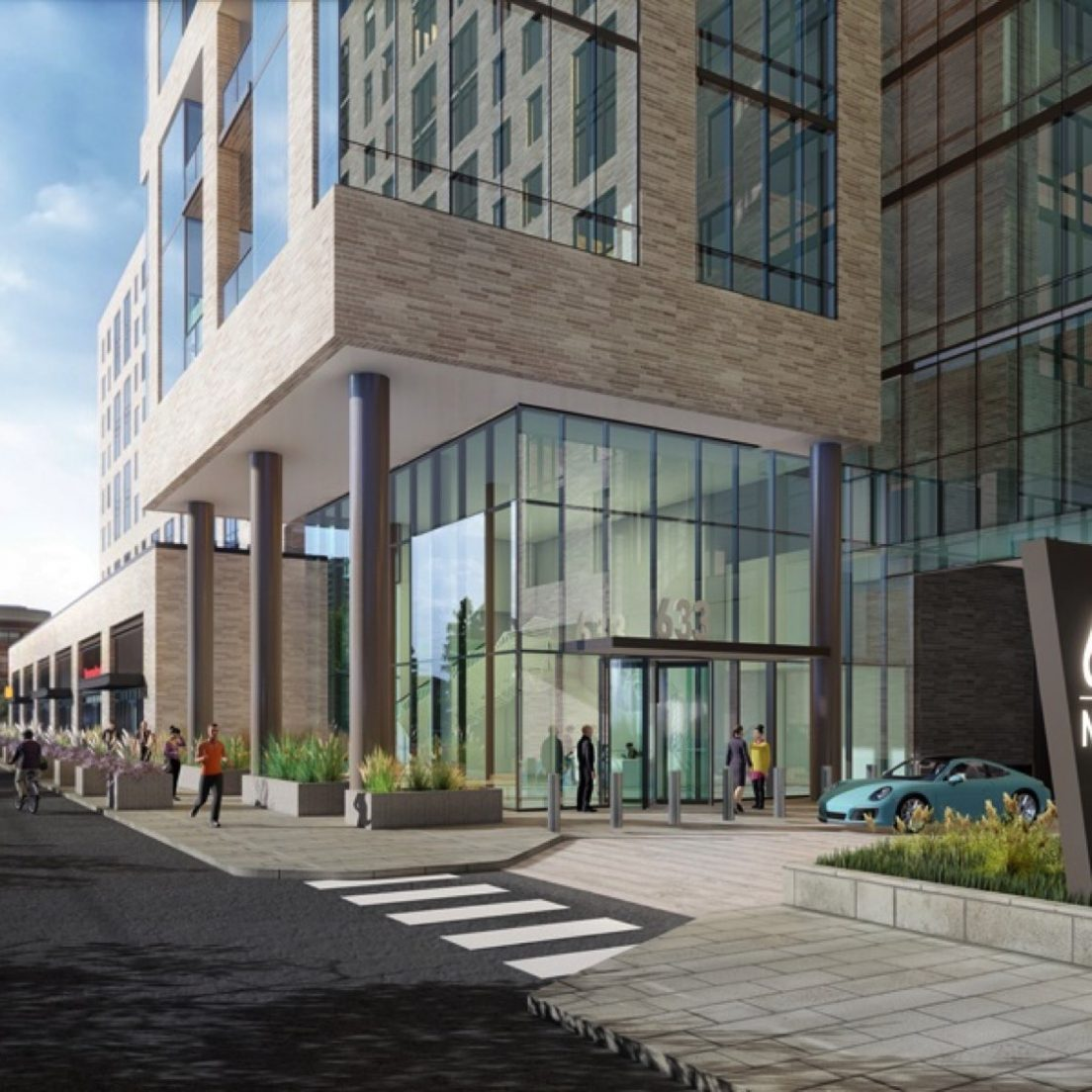 September 2019 rendering of 633 West North Avenue (via FitzGerald Associates)