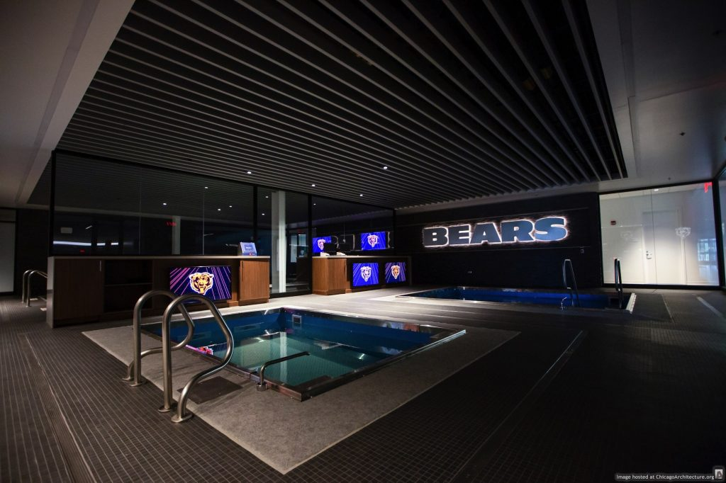Halas Hall pools (Courtesy of Chicago Bears)