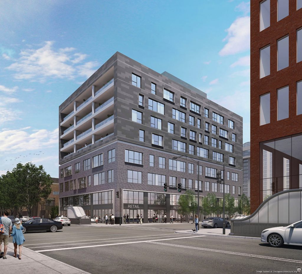 Rendering of 1201 North Clark (via Summit Design + Build)