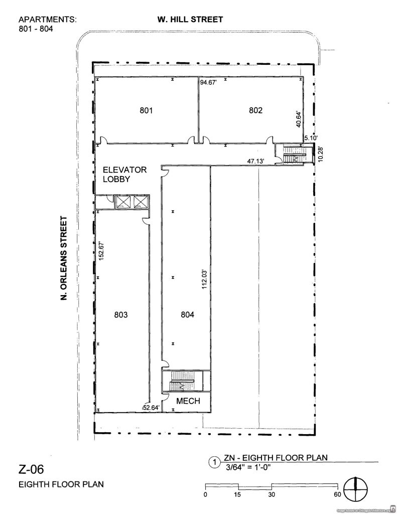 November 2019 diagram of 1035 North Orleans