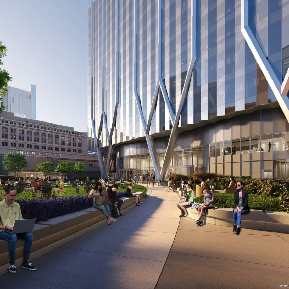 2019 rendering of BMO Tower, formerly Union Station Tower. (Courtesy of Goettsch Partners.)
