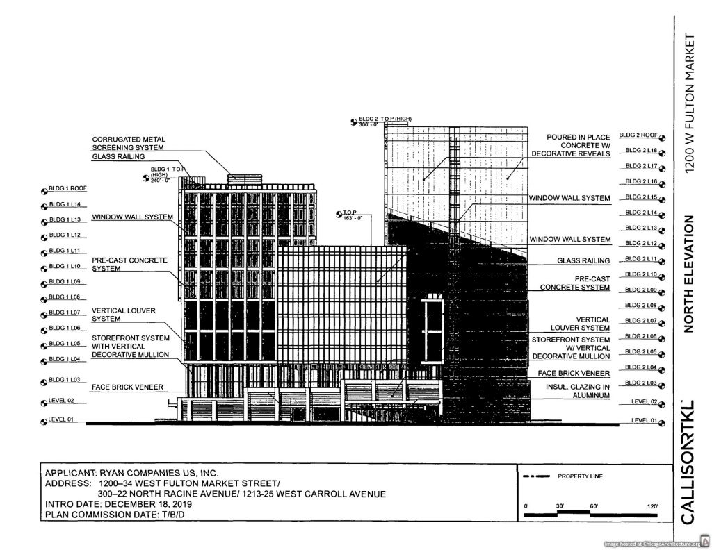 December 2019 diagram of 1200 West Fulton Market
