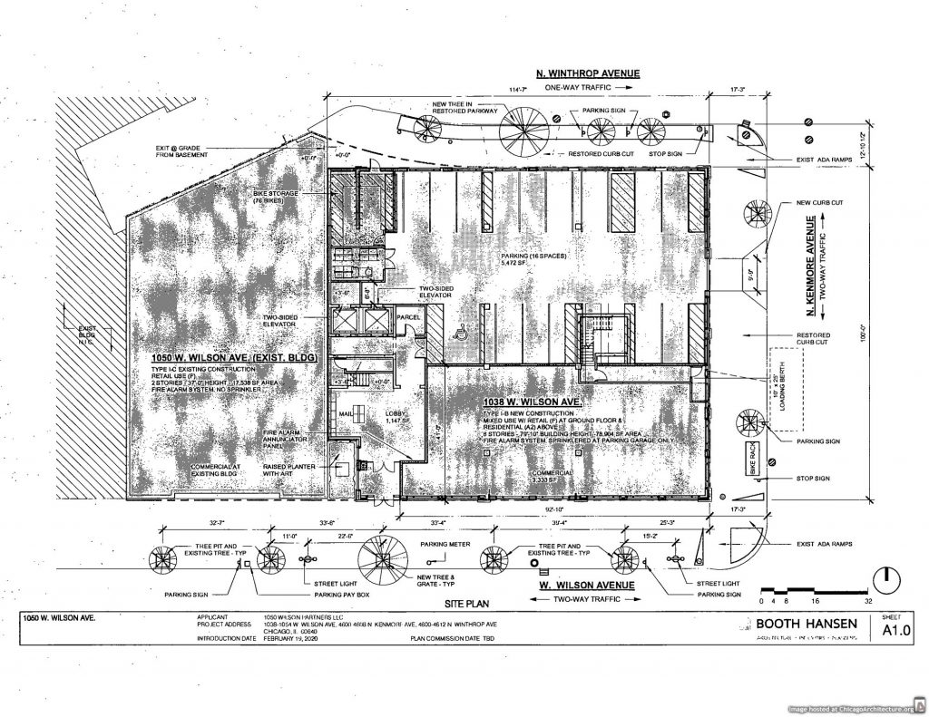 February 2020 diagram of 1038 West Wilson Avenue