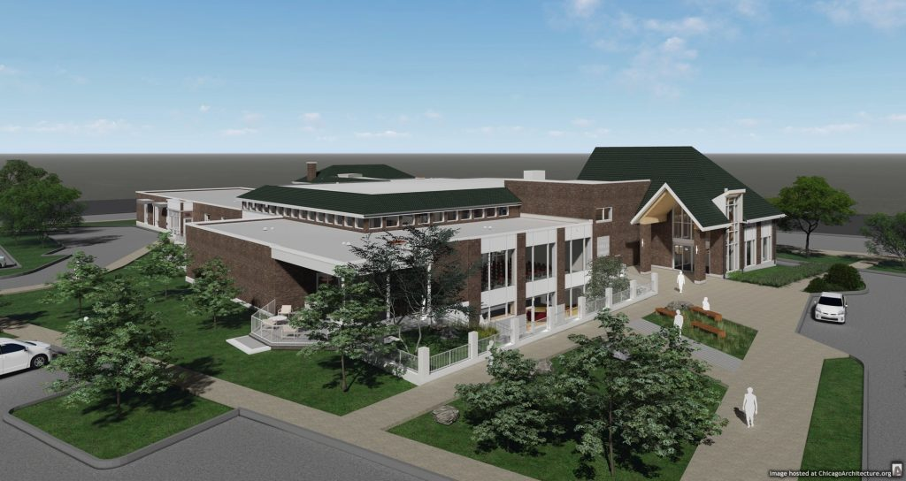 Rendering of the Saint Charles Public Library (Courtesy of SNHA)