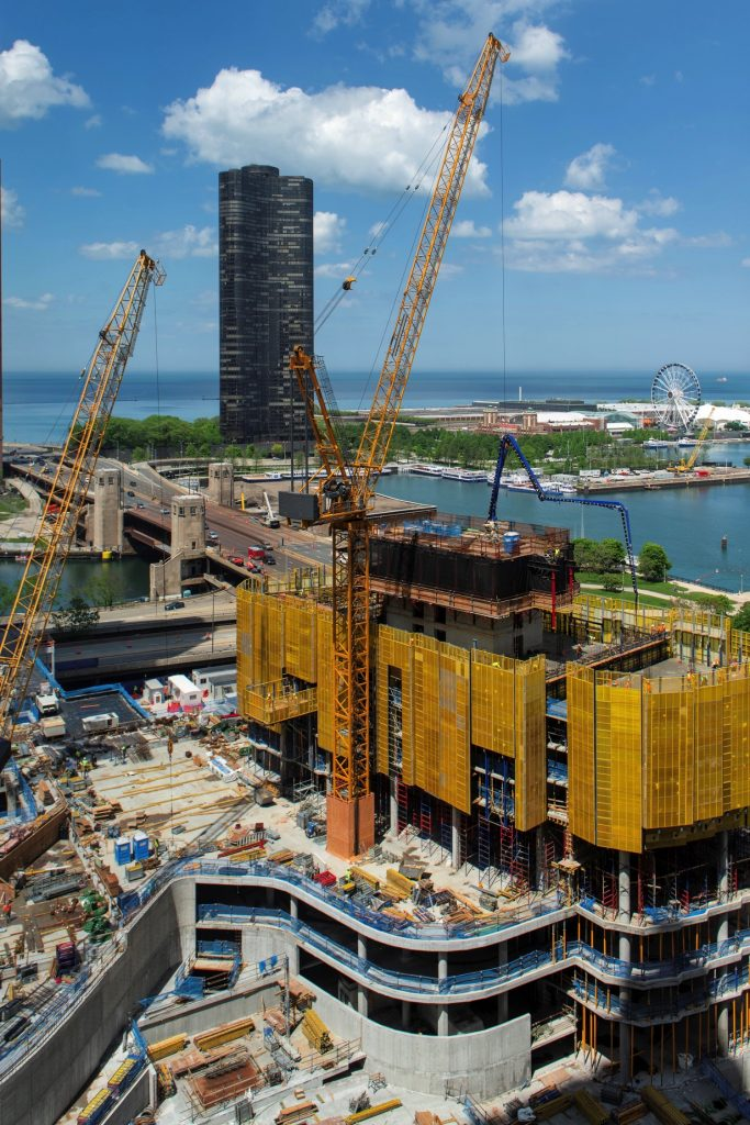 Cirrus and Cascade under construction (Courtesy of YoChicago!)