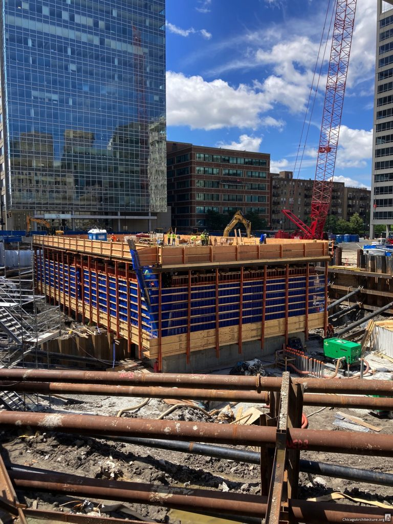 BMO Tower under construction (June 2020. Courtesy of West Loop Spy Sam.)