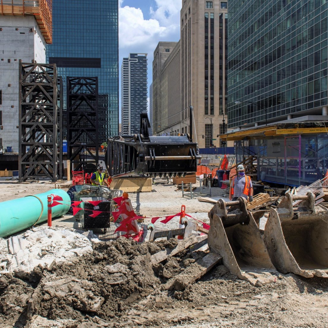 August 2020 construction of the BMO Tower (Courtesy of YoChicago!)