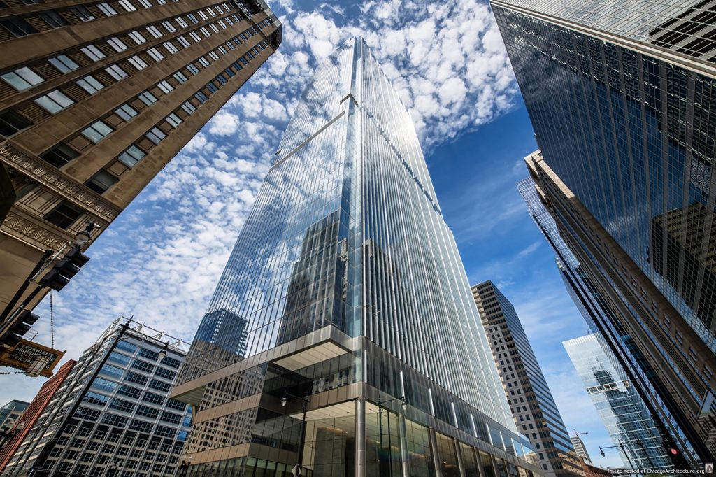 110 North Wacker (Photograph © Nick Ulivieri Photography/Courtesy of Goettsch Partners)