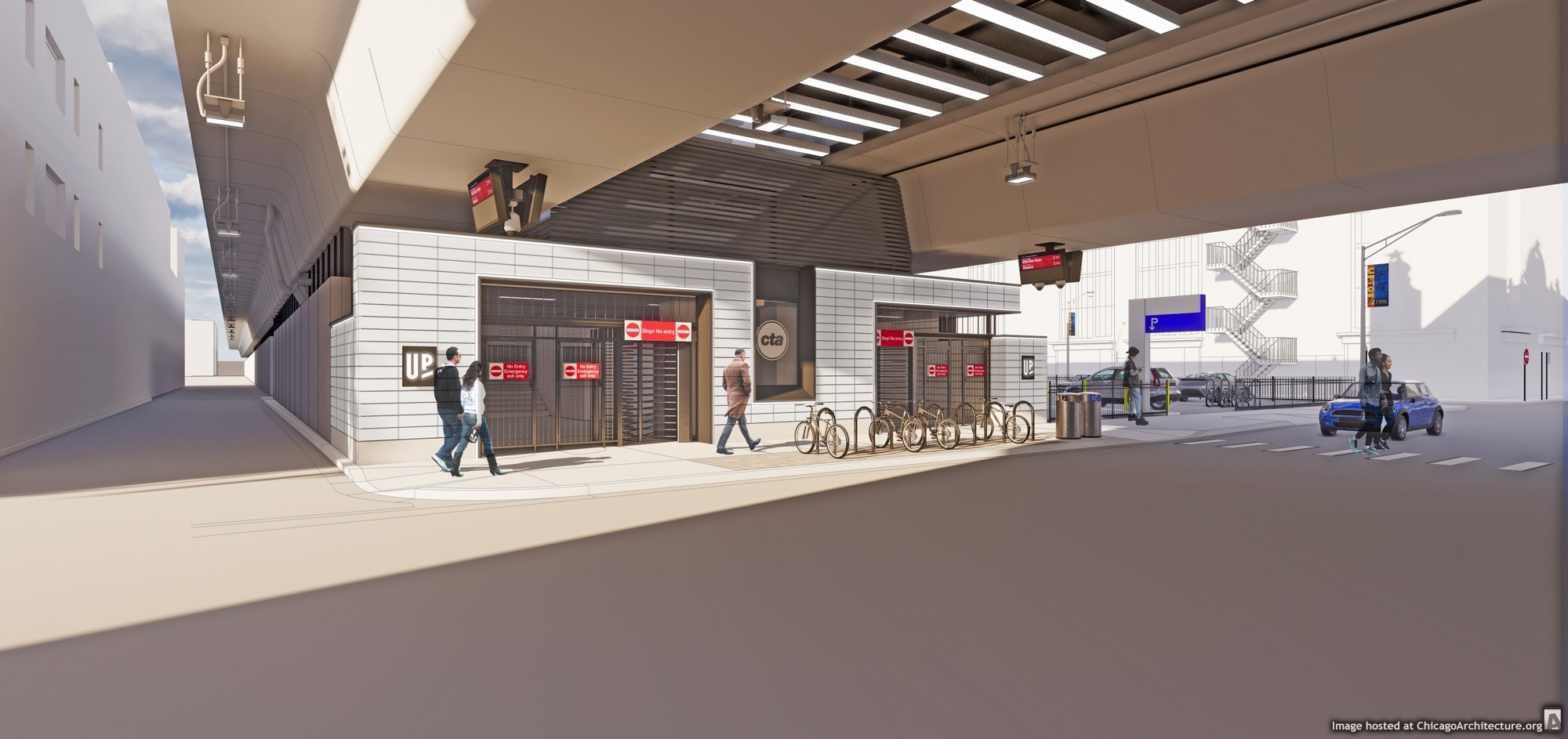 February, 2021 rendering of the CTA Lawrence station. (Courtesy of the City of Chicago)