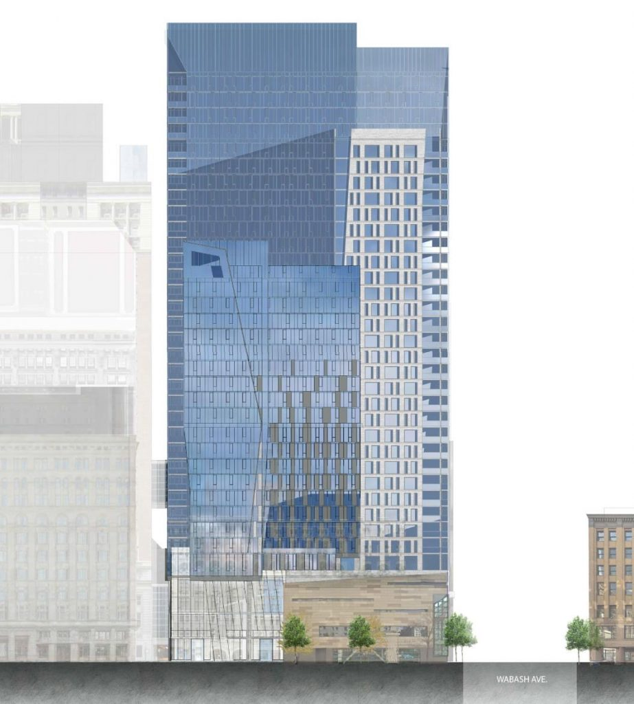 December, 2020 drawing of 525 South Wabash