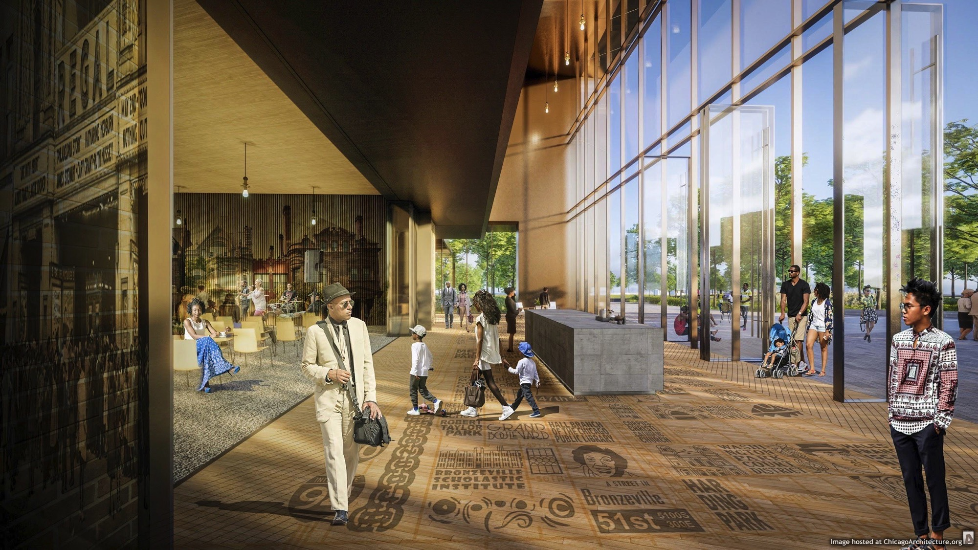 February 2021 Rendering of the ARC Innovation Center and Bronzeville Welcoming Center
