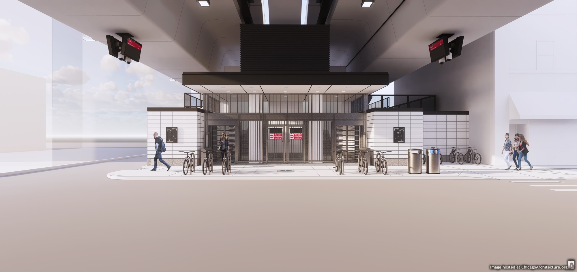 February, 2021 rendering of the CTA Bryn Mawr station. (Courtesy of the City of Chicago)
