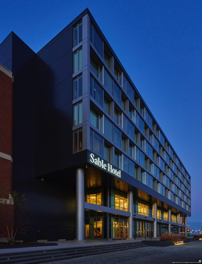 Image of Sable at Navy Pier. (Courtesy of James McHugh Construction)