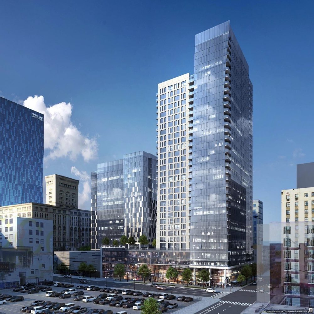 August, 2021 rendering of 525 South Wabash.
